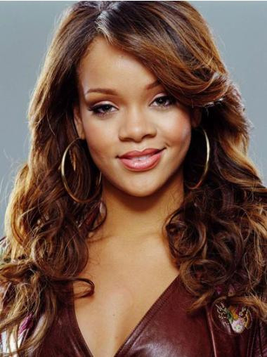 Mature Auburn Curly Long Rihanna Wigs