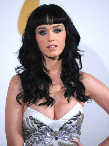 Suitable Black Wavy Long Katy Perry Wigs