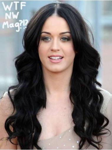 Cosy Black Wavy Synthetic Long Wigs
