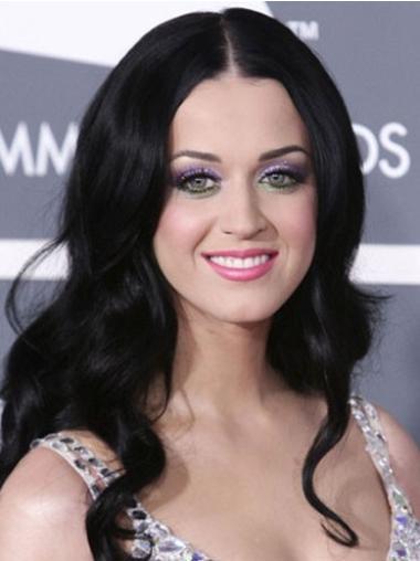 Polite Black Wavy Long Katy Perry Wigs