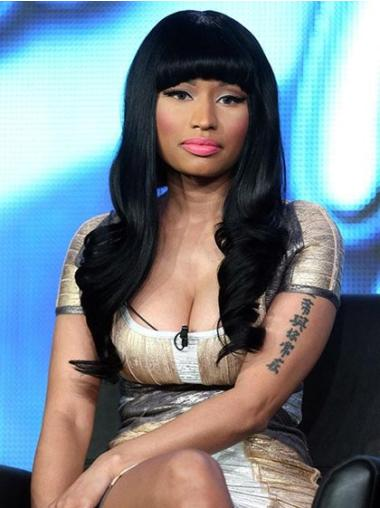 Perfect Black Wavy Long Nicki Minaj Wigs