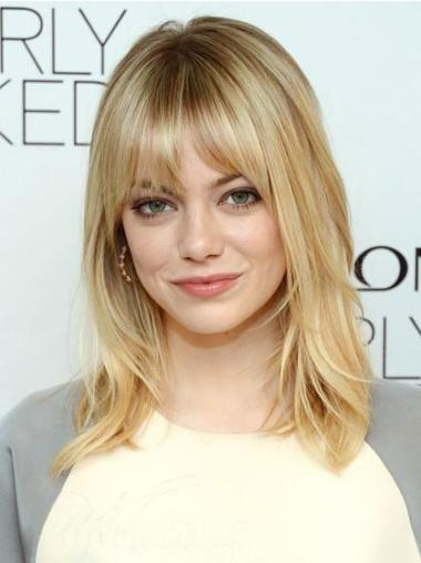 Radiant Blonde Straight Shoulder Length Celebrity Wigs