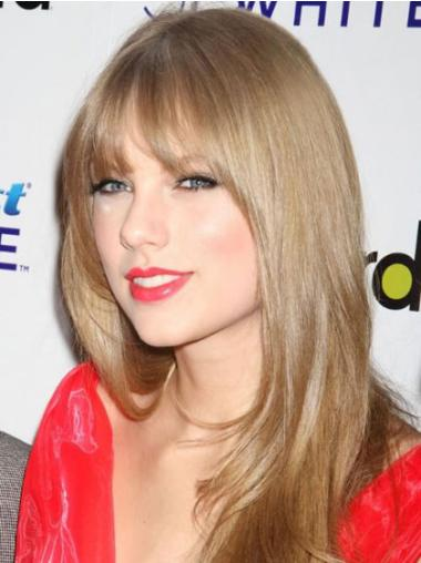 Cool Blonde Straight Long Celebrity Wigs