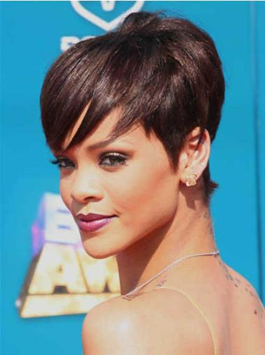 Wholesome Auburn Straight Cropped Rihanna Wigs