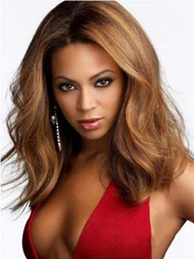 Soft Auburn Wavy Shoulder Length Beyonce Wigs