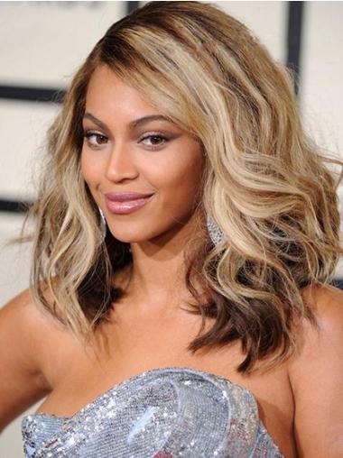 Trendy Blonde Wavy Shoulder Length Beyonce Wigs