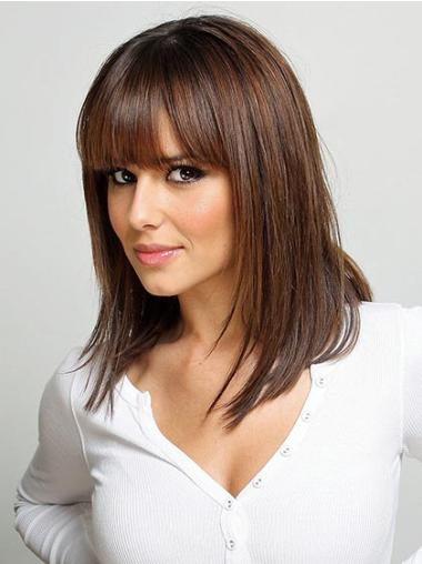 Cosy Auburn Lace Front Shoulder Length Wigs
