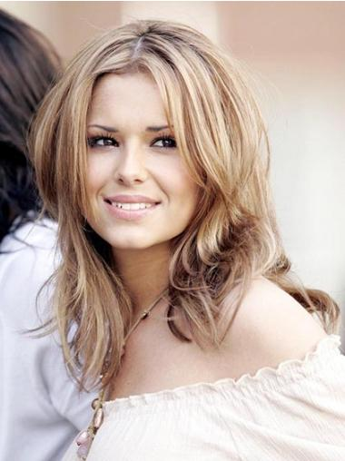 Natural Blonde Straight Shoulder Length Cheryl Cole Wigs