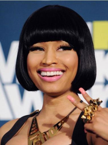 Hairstyles Black Straight Chin Length Nicki Minaj Wigs