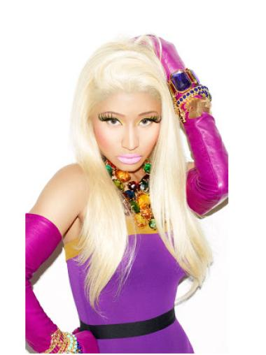 Elegant Blonde Straight Long Nicki Minaj Wigs