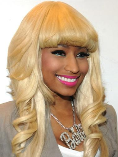 Trendy Blonde Wavy Long Nicki Minaj Wigs