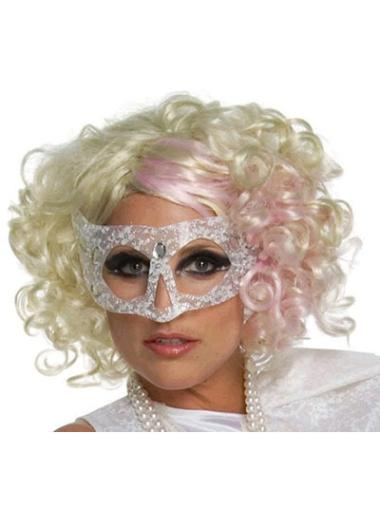 Perfect Blonde Curly Chin Length Lady Gaga Wigs