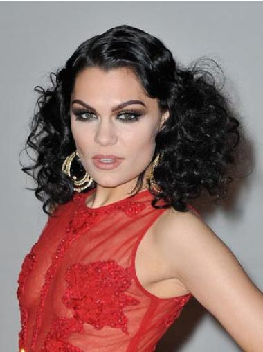 Good Black Curly Shoulder Length Jessie J Wigs