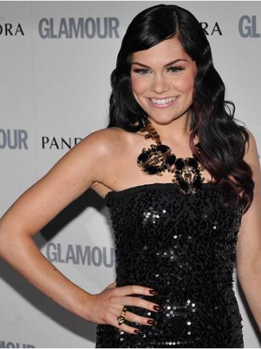 Modern Black Wavy Long Jessie J Wigs