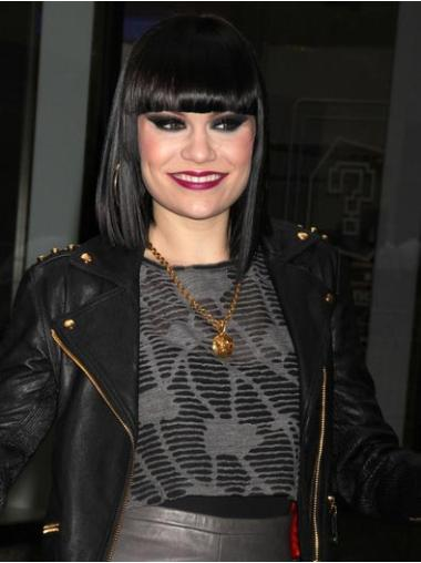 Fabulous Black Straight Shoulder Length Jessie J Wigs