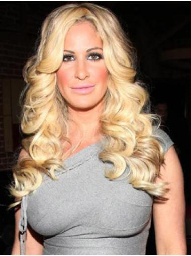 Designed Blonde Wavy Long Kim Zolciak Wigs