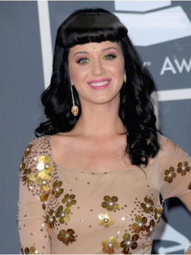 Top Black Wavy Long Katy Perry Wigs