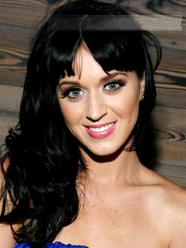 Stylish Black Wavy Long Katy Perry Wigs