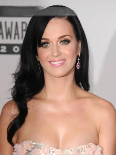 Sleek Black Wavy Long Katy Perry Wigs