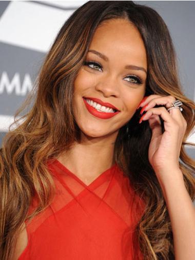 Great Brown Wavy Long Rihanna Wigs