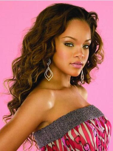 Ideal Brown Wavy Long Rihanna Wigs