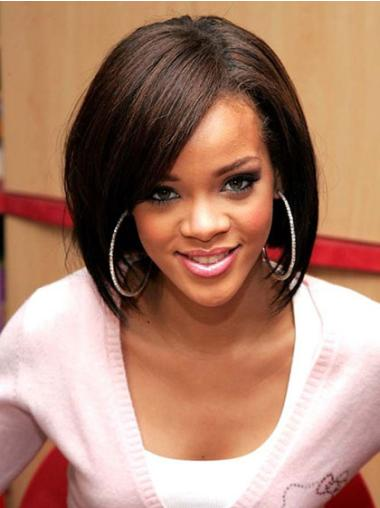 Flexibility Lace Front Straight Chin Length Rihanna Wigs