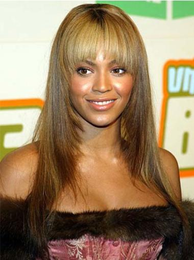 Polite Blonde Straight Long Beyonce Wigs