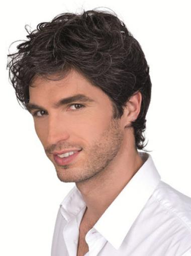 Cheapest Monofilament Curly Short Men Wigs