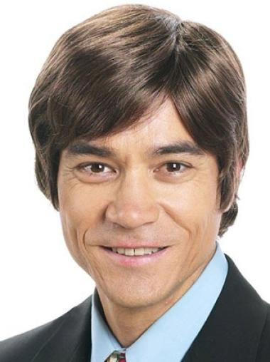 Amazing Brown Straight Short Men Wigs