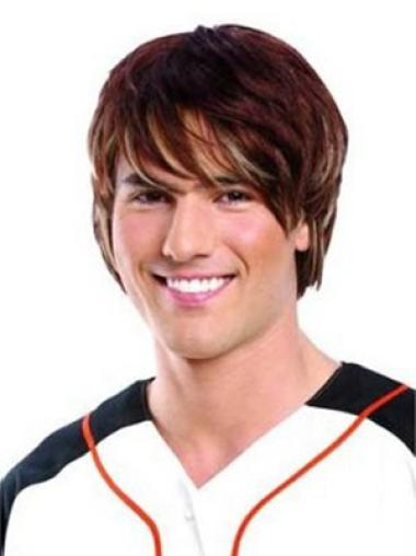 Fashion Auburn Lace Front Short Men Wigs