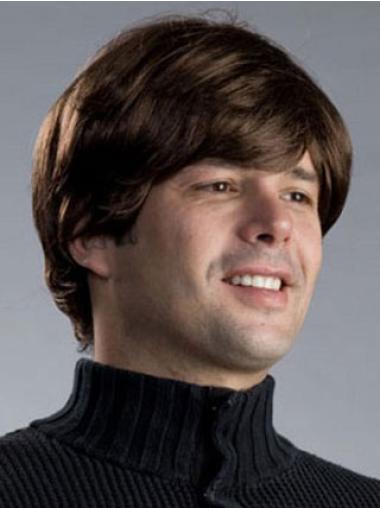 Brown Straight Synthetic Gentle Men Wigs