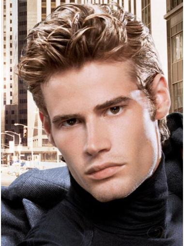 Perfect Lace Front Straight Cropped Men Wigs