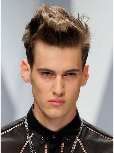 Best Brown Straight Cropped Men Wigs