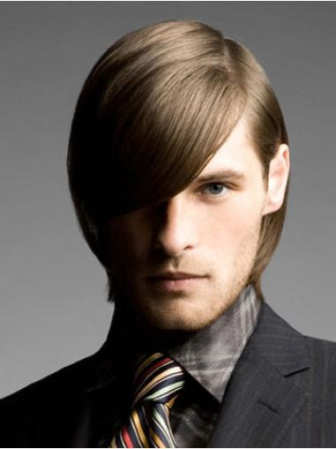 Great Lace Front Straight Chin Length Men Wigs