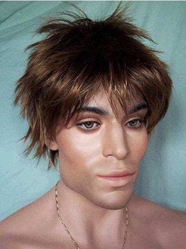 Cool Lace Front Straight Short Men Wigs