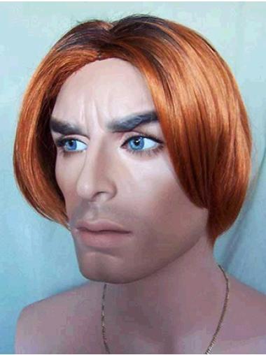 Designed Auburn Lace Front Short Men Wigs