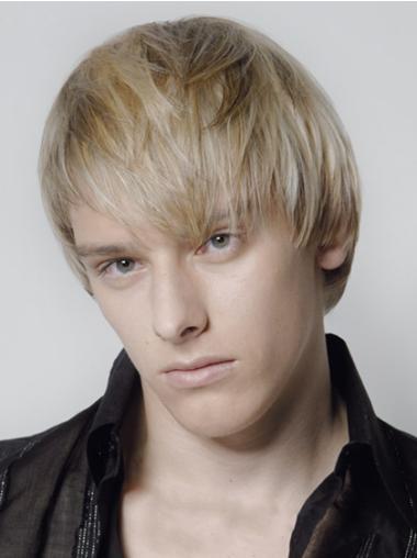 Impressive Blonde Straight Short Men Wigs