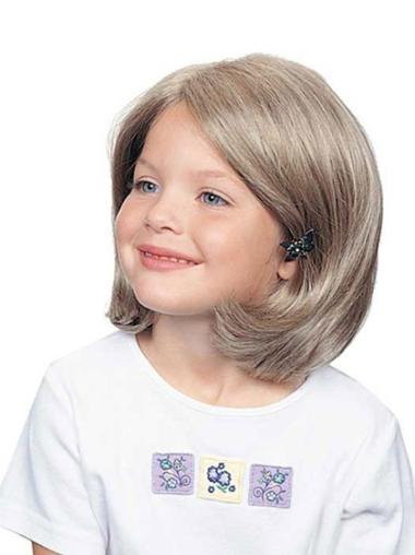 Natural Blonde Wavy Chin Length Wigs For Cancer