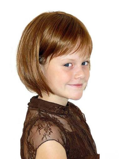 Easeful Auburn Straight Chin Length Kids Wigs