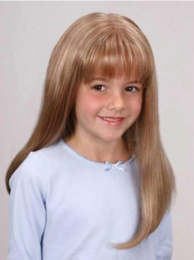 Great Blonde Lace Front Long Kids Wigs