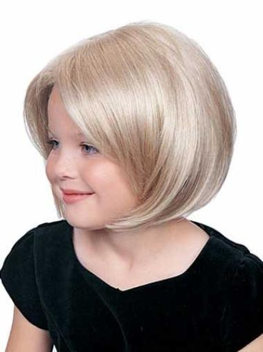 Ideal Blonde Lace Front Chin Length Kids Wigs