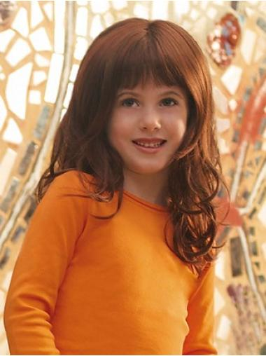 Easy Auburn Curly Long Kids Wigs