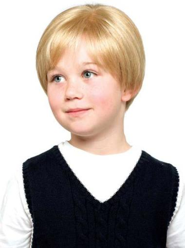 Designed Blonde Lace Front Short Kids Wigs