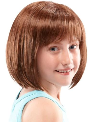 Cosy Auburn Lace Front Chin Length Kids Wigs Wig For Kids
