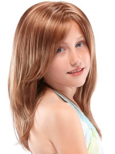 Nice Auburn Straight Long Kids Wigs