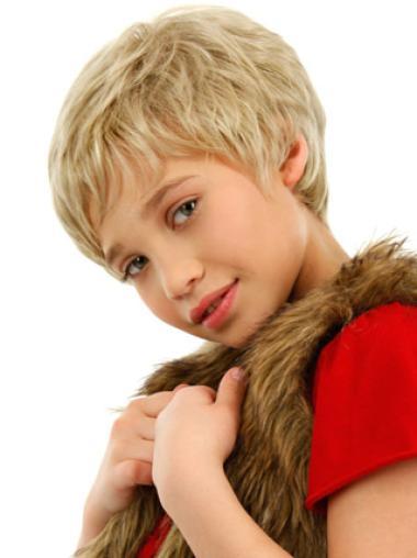 Durable Blonde Wavy Short Kids Wigs