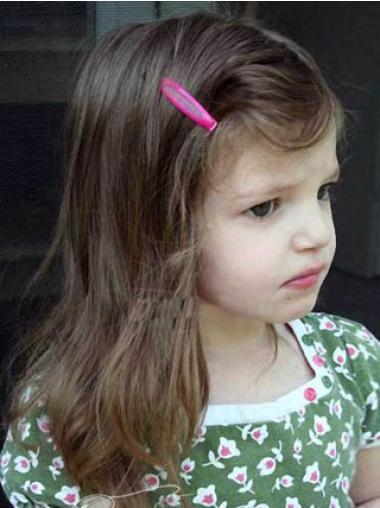 Suitable Lace Front Straight Shoulder Length Kids Wigs