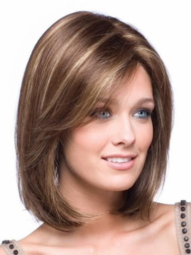 Impressive Lace Front Straight Chin Length Petite Wigs