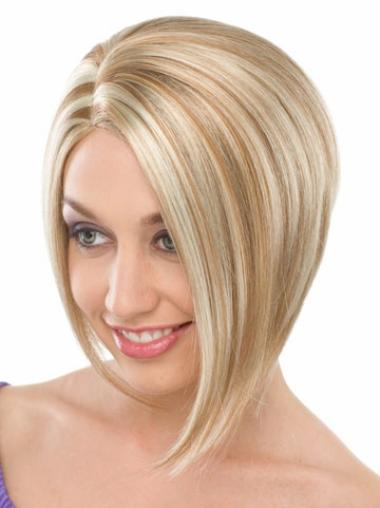 Nice Blonde Straight Chin Length Bob Wigs
