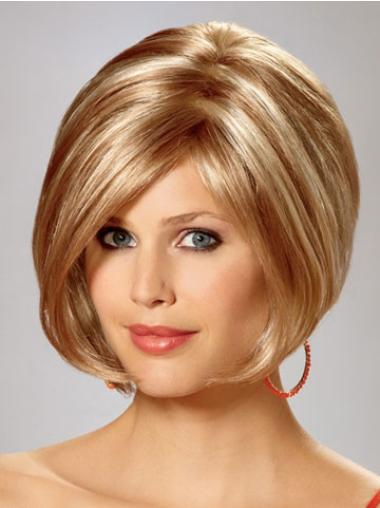 Easeful Synthetic Straight Chin Length Bob Wigs